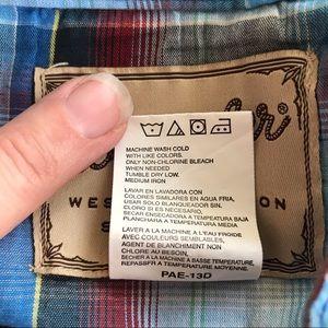 Wrangler Shirts - WRANGLER Western Pearl Snap XL Short Sleeve Shirt